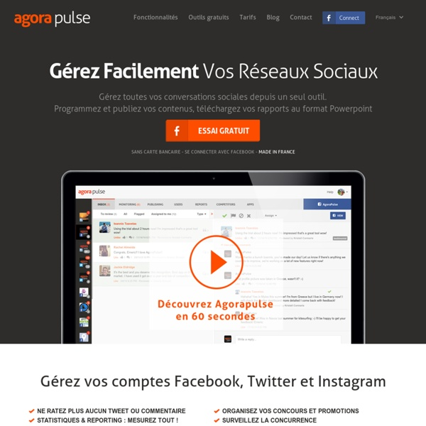 Gestion Facebook & Twitter : Apps, statistiques, contenus, CRM
