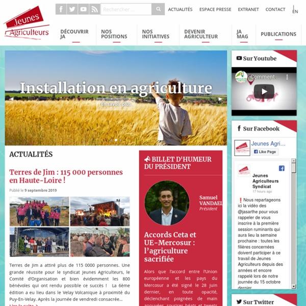 Jeunes Agriculteurs - Syndicat professionnel agricole.