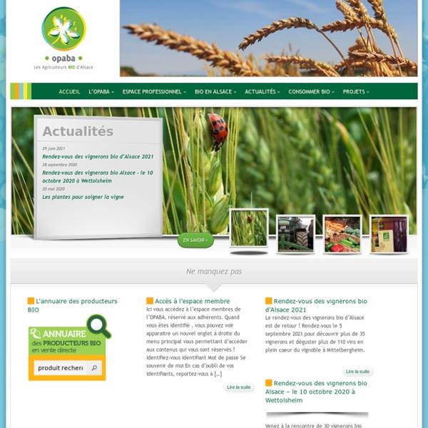 Agriculture Biologique et Biodynamique en Alsace
