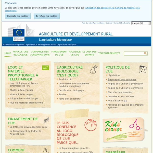 EUROPE - Fiche d'information concernant l'agriculture biologique