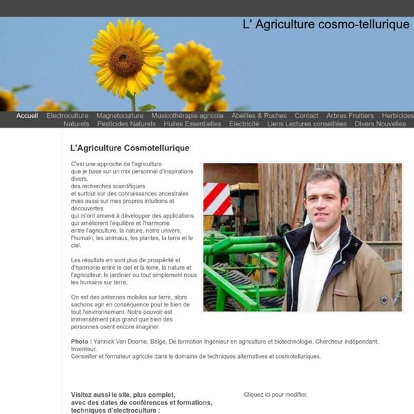 L' Agriculture cosmo-tellurique - Agriculture cosmotellurique