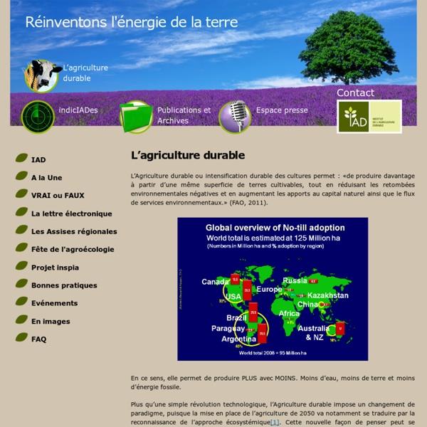 IAD - Rencontres Internationales - Ils Sont Partenaires Des 5Èmes Rencontres Internationales De L'agriculture Durable (2013)