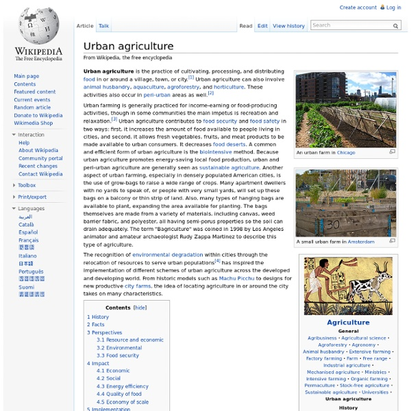 WIKIPEDIA – Urban agriculture.