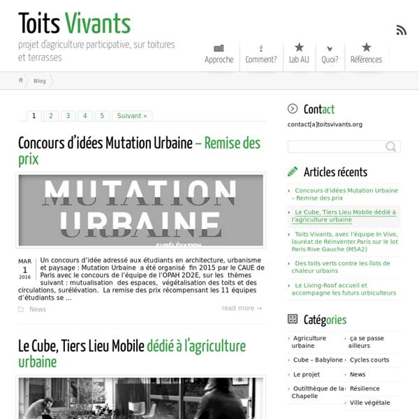 Toits Vivants ← projet d'agriculture participative, sur toitures et terrasses