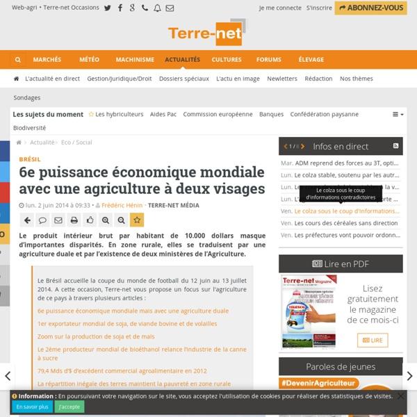 L'agriculture au Brésil présentation