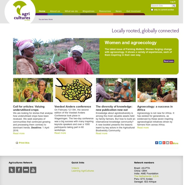AgriCultures Network