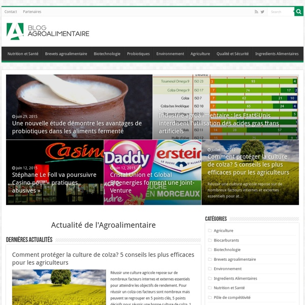 Blog Agroalimentaire : actualité et innovation agroalimentaire