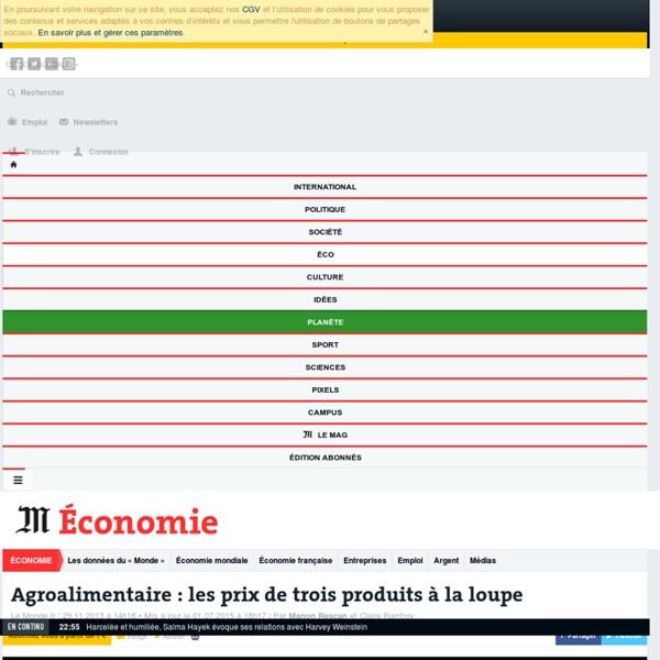Agroalimentaire : les prix de trois produits à la loupe