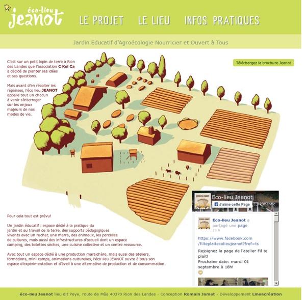Éco-lieu JEANOT à Rion des Landes : Jardin Educatif d'Agroécologie Nourricier et Ouvert à Tous