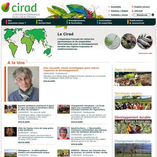CIRAD - La recherche agronomique au service des pays du Sud