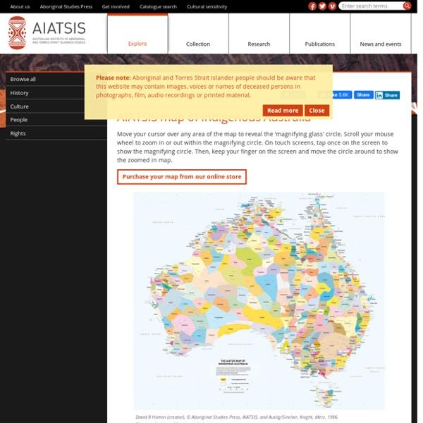 AIATSIS map of Indigenous Australia