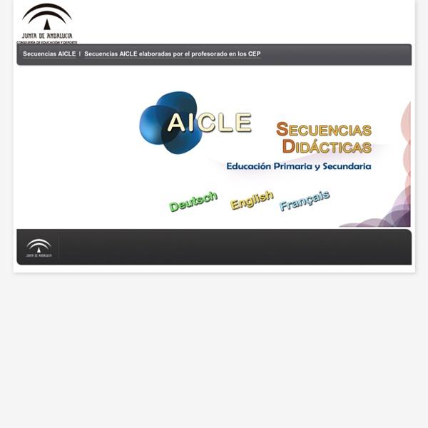 AICLE - Inicio - Consejería de Educación, Cultura y Deporte