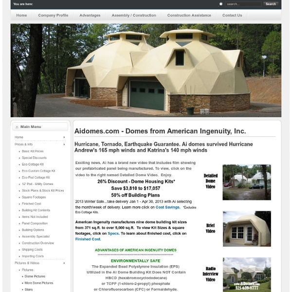 Aidomes.com - Domes from American Ingenuity