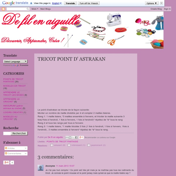 TRICOT POINT D' ASTRAKAN