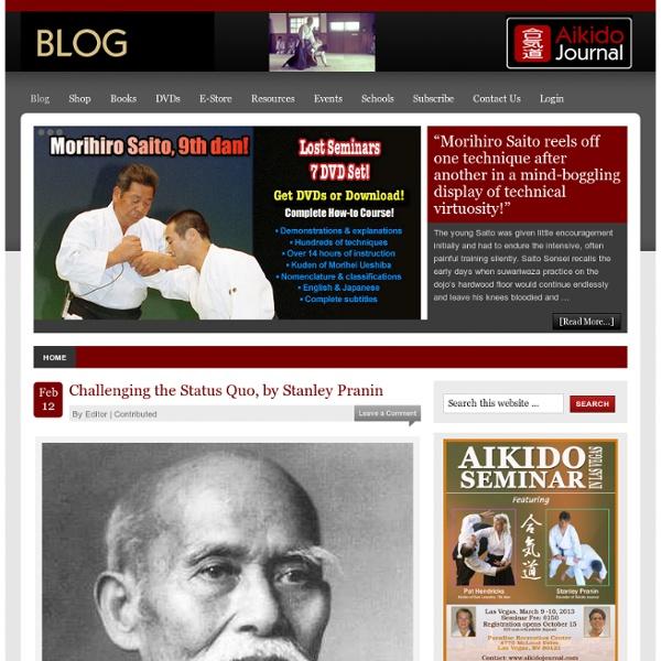 Aikido Journal Blog