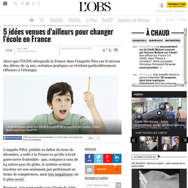 5 idées venues d'ailleurs pour changer l'école en France