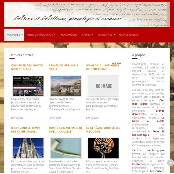 D'Aïeux et d'Ailleurs, généalogie et archives - d'Aïeux et d'Ailleurs, généalogie et archives