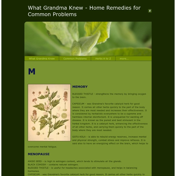 AilmentsMs - What Grandma Knew - Home Remedies for Common Problems