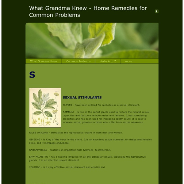 AilmentsSs - What Grandma Knew - Herbal Remedies for Common Problems