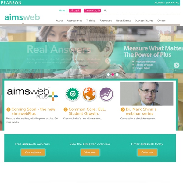 Aimsweb Assessment and RTI Solution