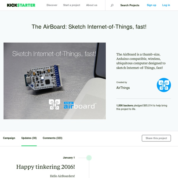 The AirBoard: Sketch Internet-of-Things, fast! by AirThings