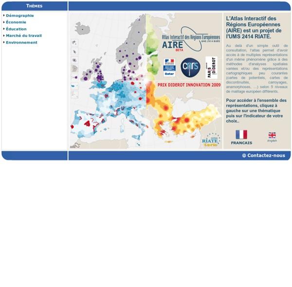 L'Atlas interactif des Régions Européennes