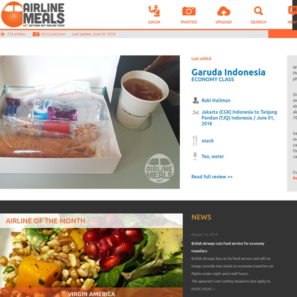 Airline catering * the world's largest website about airline catering, inflight meals and special meals