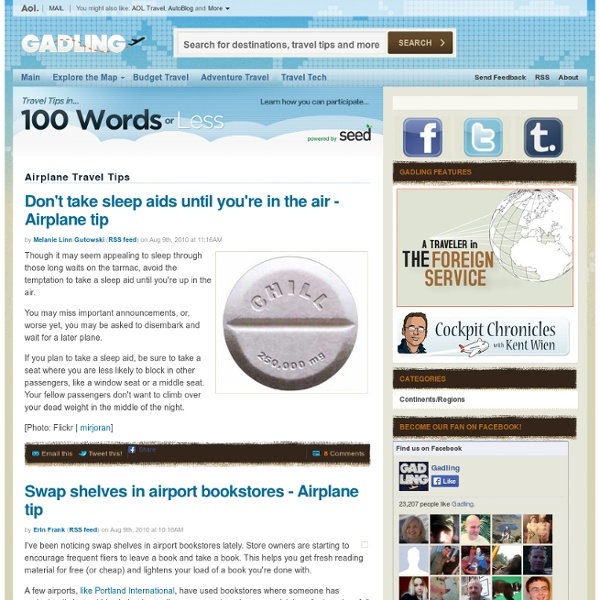 Airplane Travel Tips - 100 Words or Less - Gadling
