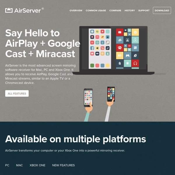 AirServer - The game console for Mac/PC has arrived