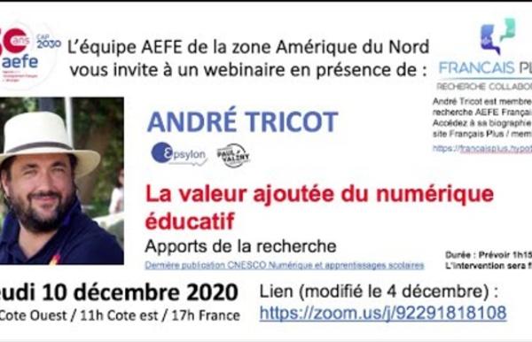 Valeur ajoutée numérique Andre Tricot Francais plus