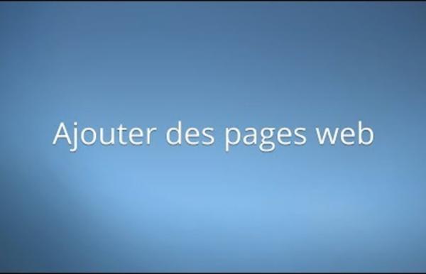 Ajouter des pages web