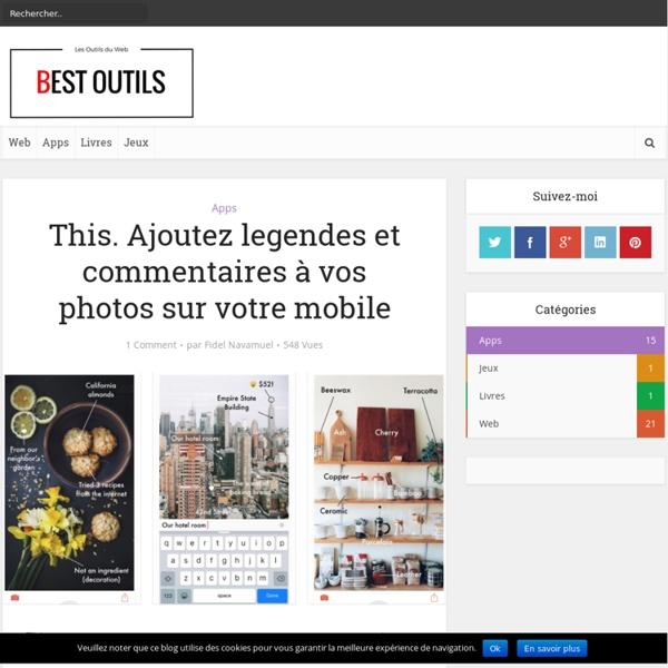 This. Ajoutez legendes et commentaires à vos photos sur votre mobile – Best O...