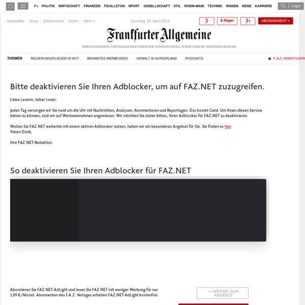 Aktuelle Nachrichten online - FAZ.NET