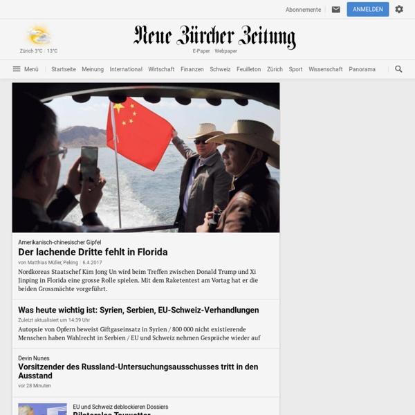 NZZ.ch - Nachrichten & Meinungen - Aktuelle News & Hintergründe - Neue Zürcher Zeitung