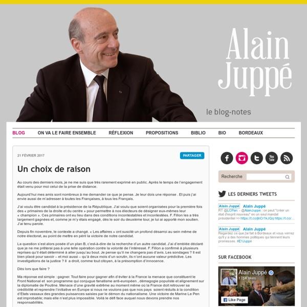 AL1JUP - Blog Notes d'Alain Juppé
