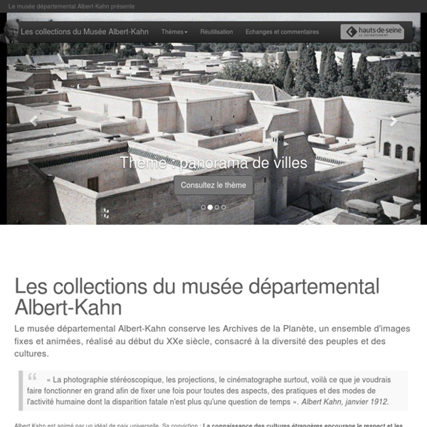 Albert-Kahn : les collections