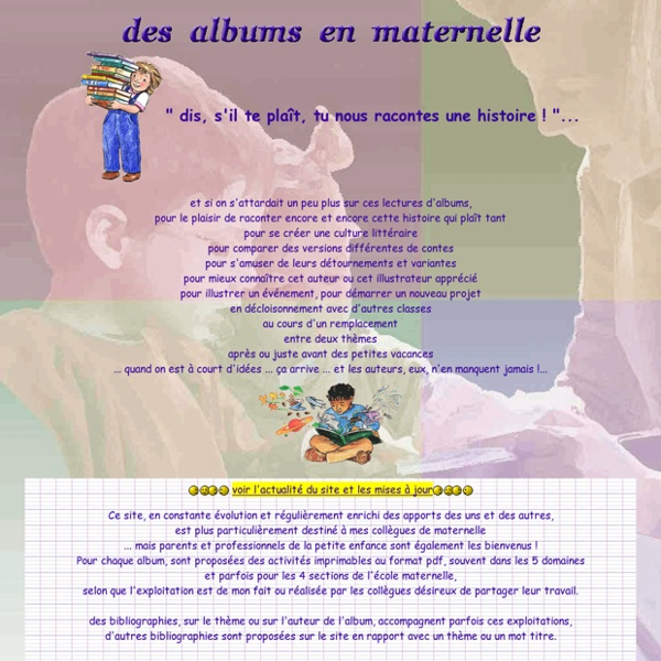 Des albums en maternelle