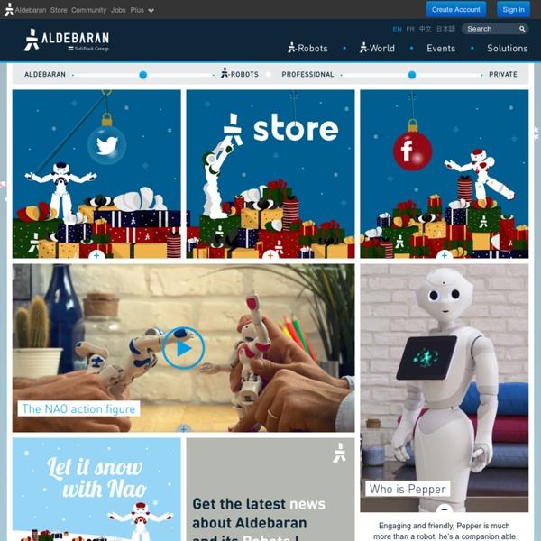 Home - Corporate - Aldebaran Robotics