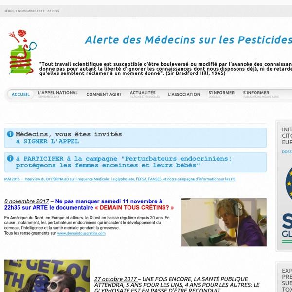 Alerte Médecins Pesticides