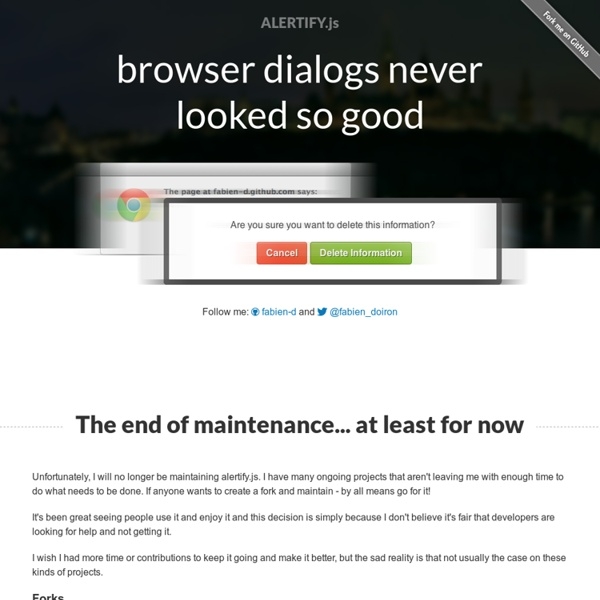 Alertify.js - browser dialogs never looked so good