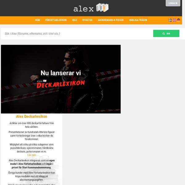 Alex - Författarlexikon