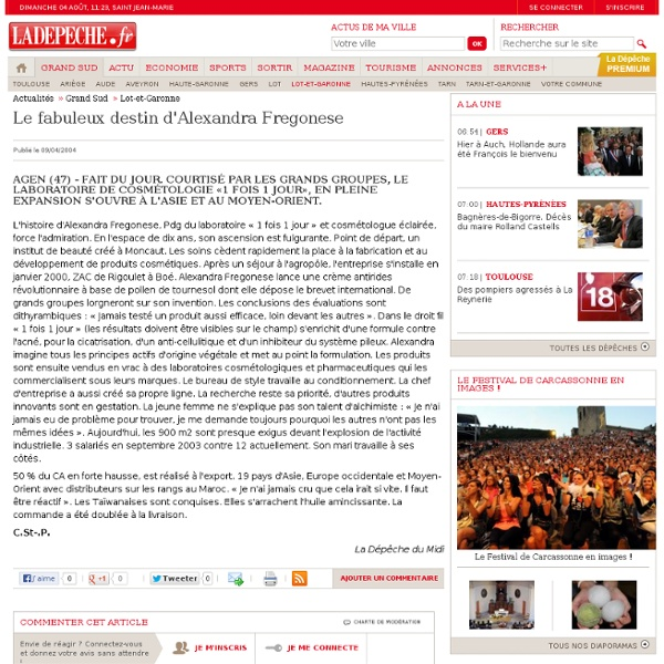 Le fabuleux destin d'Alexandra Fregonese - 09/04/2004 - LaDépêche