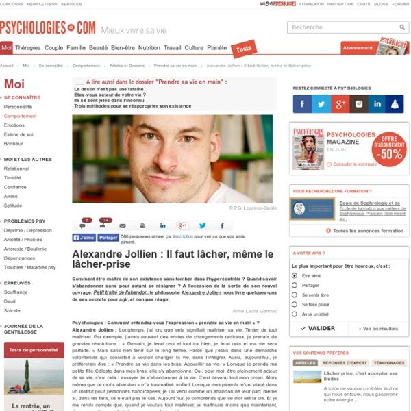 Alexandre Jollien : Il faut lâcher, même le lâcher-prise