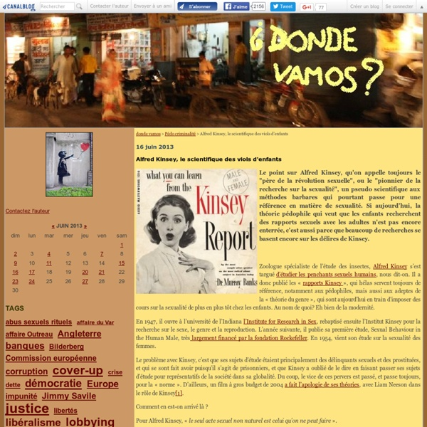 Àl'origine Alfred KINSEY zoologue