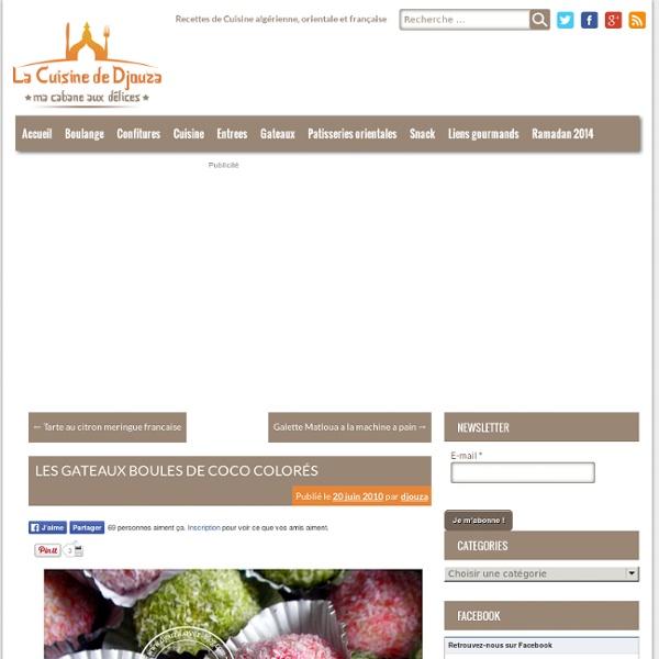 Recettes de Cuisine algérienne, orientale et française