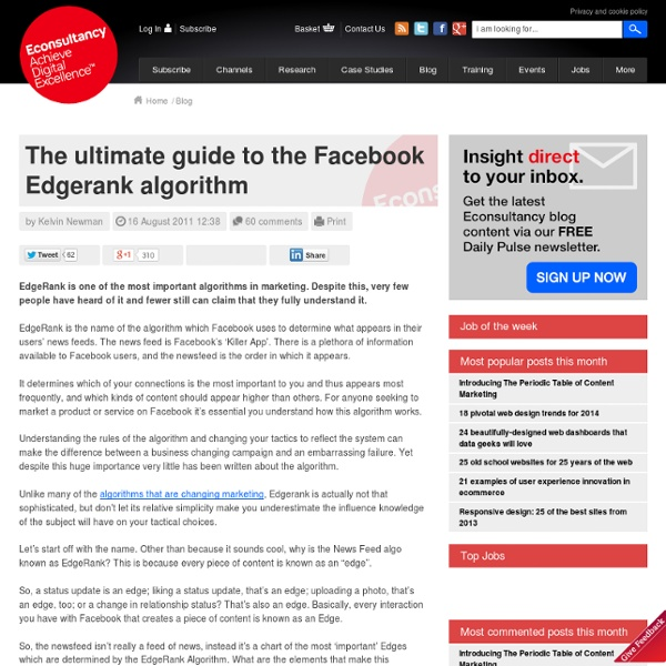 The ultimate guide to the Facebook Edgerank algorithm