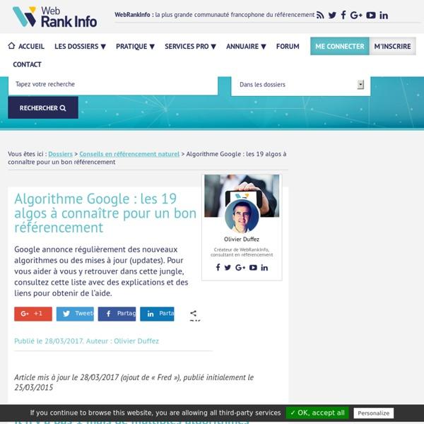 SEO : les 17 algorithmes de Google à connaître à tout prix