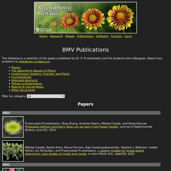 Algorithmic Botany: Publications