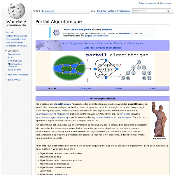 Portail:Algorithmique
