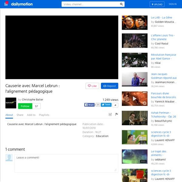 Causerie avec Marcel Lebrun : l'alignement pédagogique - une vidéo Campus